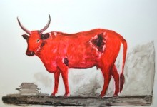 Akabeko, the Japanese cow. Size: A1