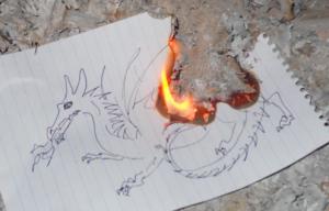 Dragon burning