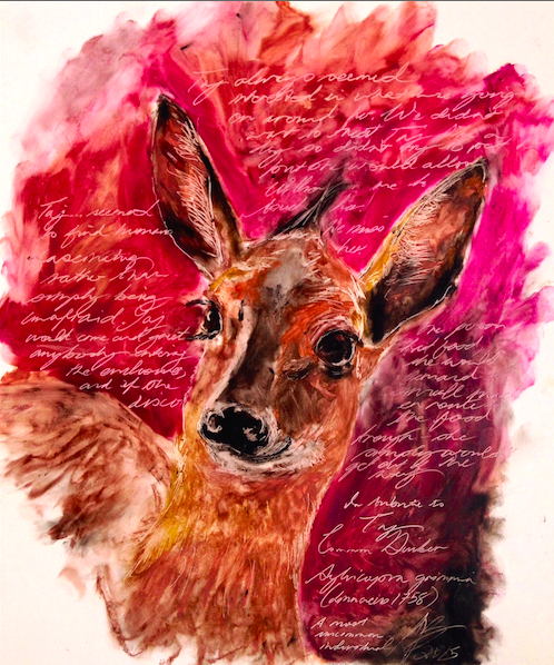 lipstick painting of common duiker