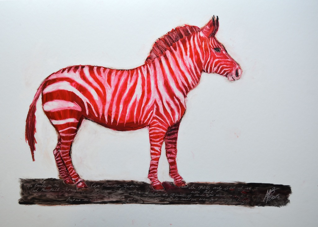 red lipstick zebra